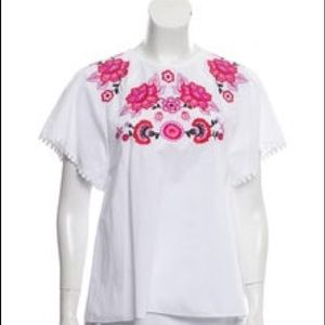 Kate Spade Floral Embroidered Shirt